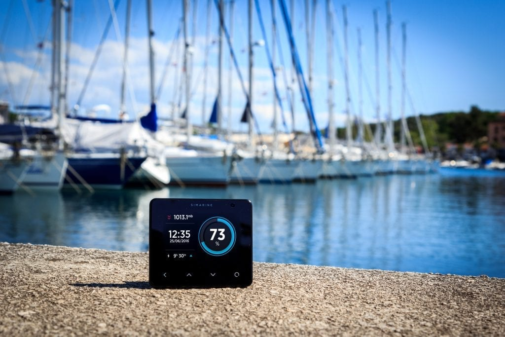 Smart battery monitor near a marine