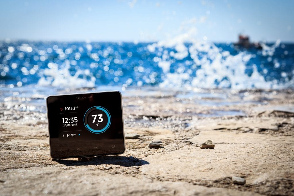 Smart battery monitor near the sea