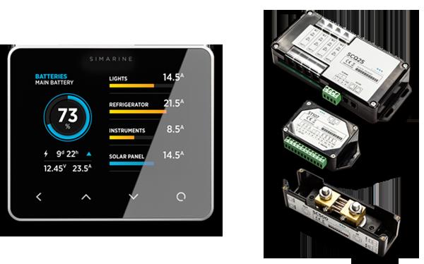 Marine Battery Monitoring System : Smart marine battery monitor system simarine